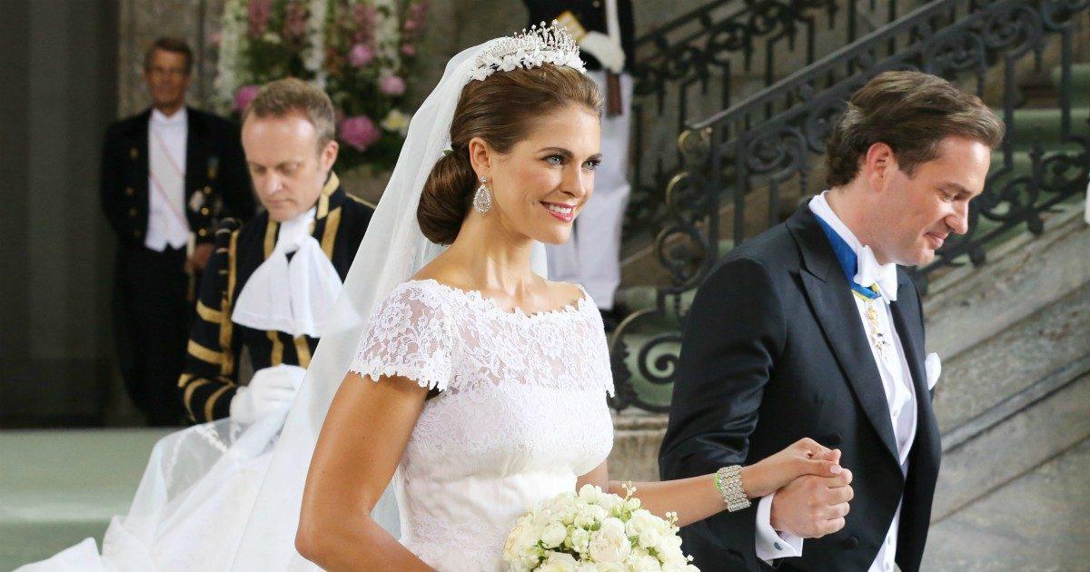 """75acafdc9870 Madeleines okända bröllopspanik: """"Sprang runt klänningen som små möss"""""""