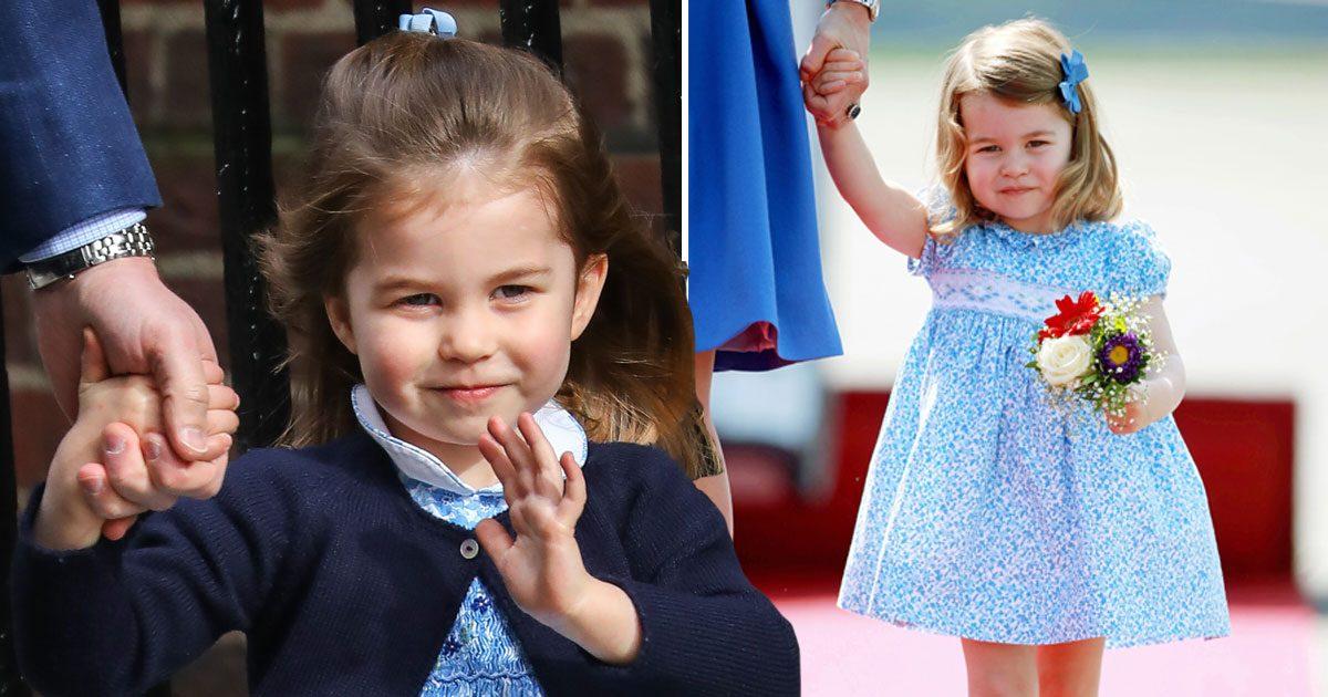 Prinsessan Charlotte vinkar.