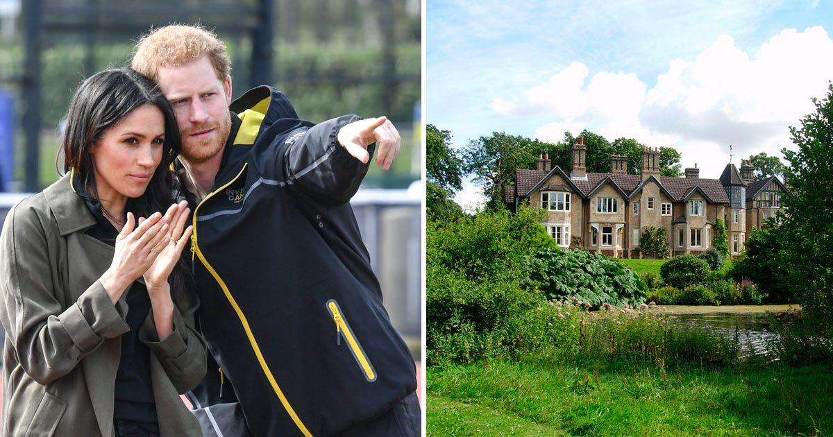 Meghan Markle och prins Harry och lanthuset York Cottage