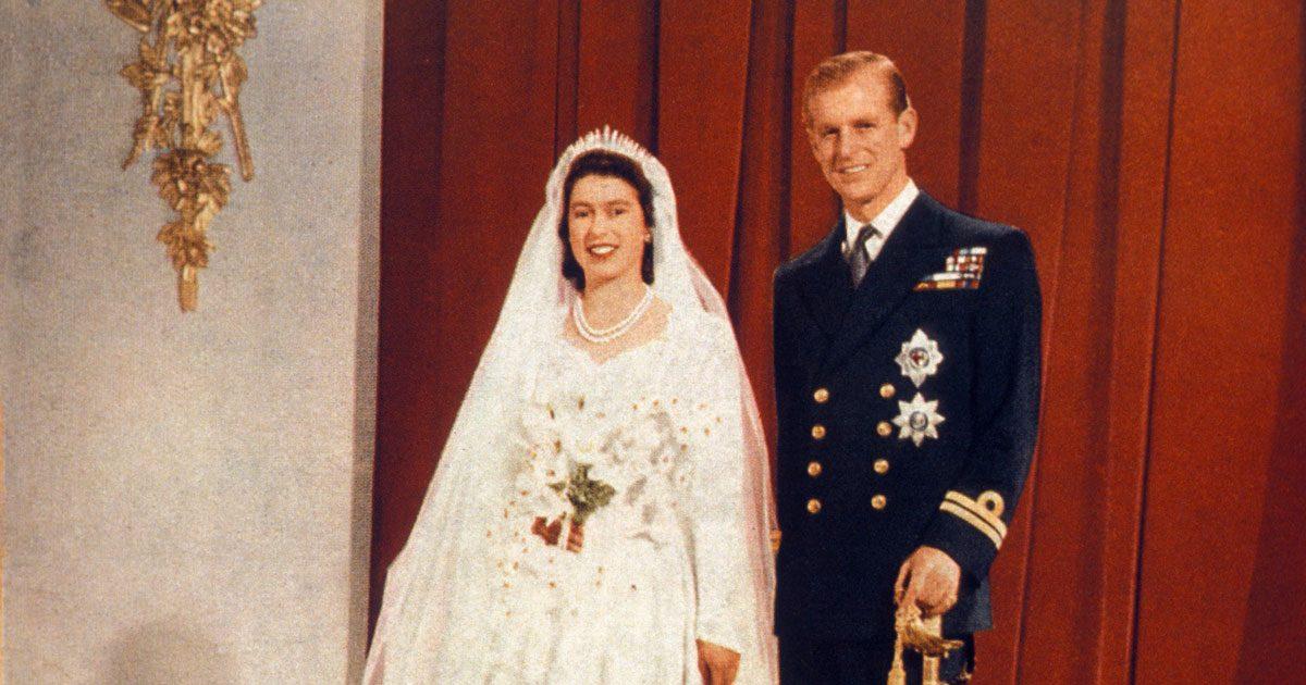 Se den unika filmen från drottning Elizabeths bröllop
