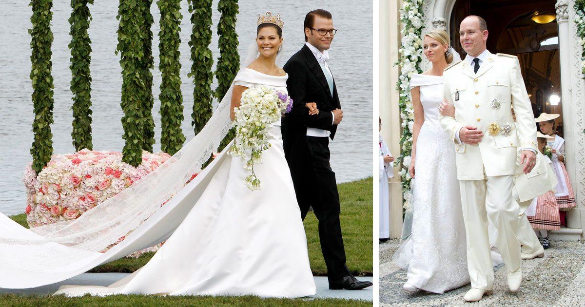 a937f0cd9efa Kronprinsessan Victoria och prins Daniels bröllop och Charlene och prins  alberts bröllop