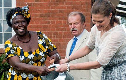 Kronprinsessan Victorias sista dag i Kenya med Nobels fredspristagare