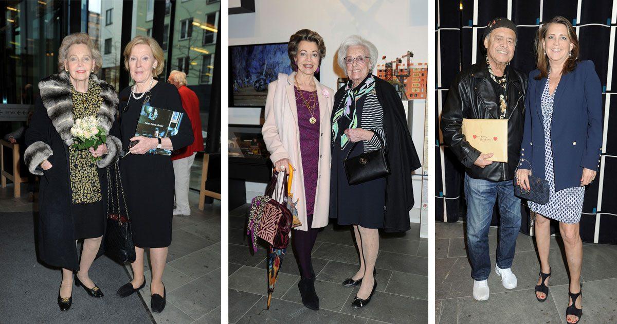 Marianne Bernadotte på Peter Dahls vernissage