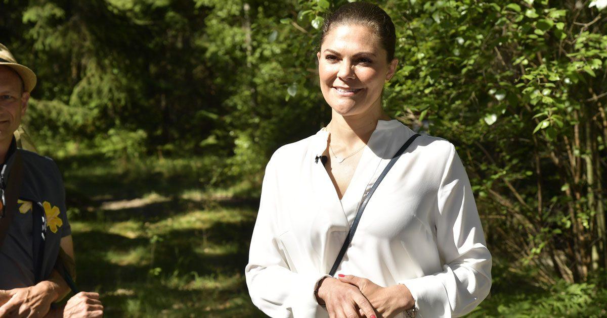 Se fina bilderna från kronprinsessan Victorias Smålandsvandring