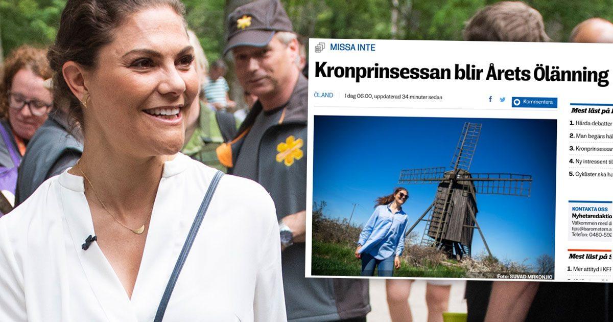 Nytt pris till kronprinsessan Victoria – dubbelfiras på Öland i juli