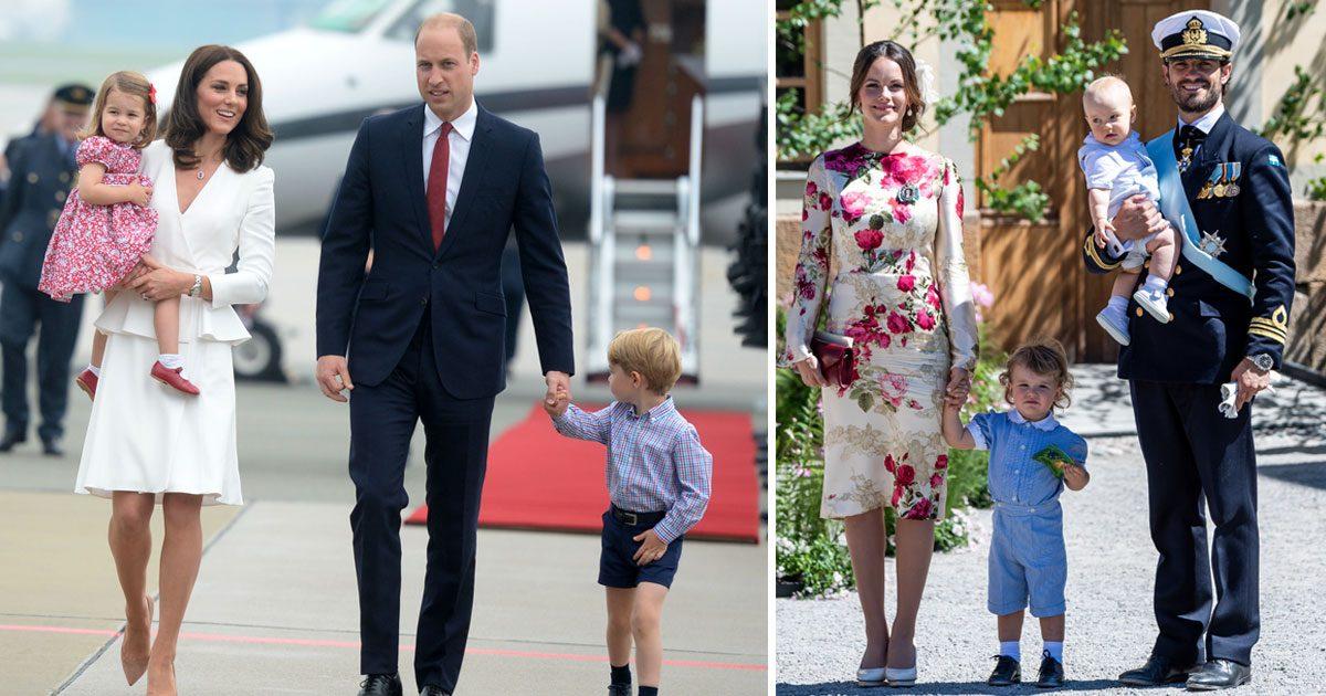Kate och Williams val till George inspirerar den svenska kungafamiljen