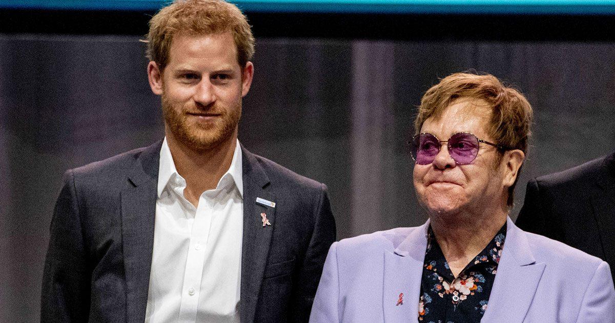 Harry mötte vännen Elton John – men var är Meghan?