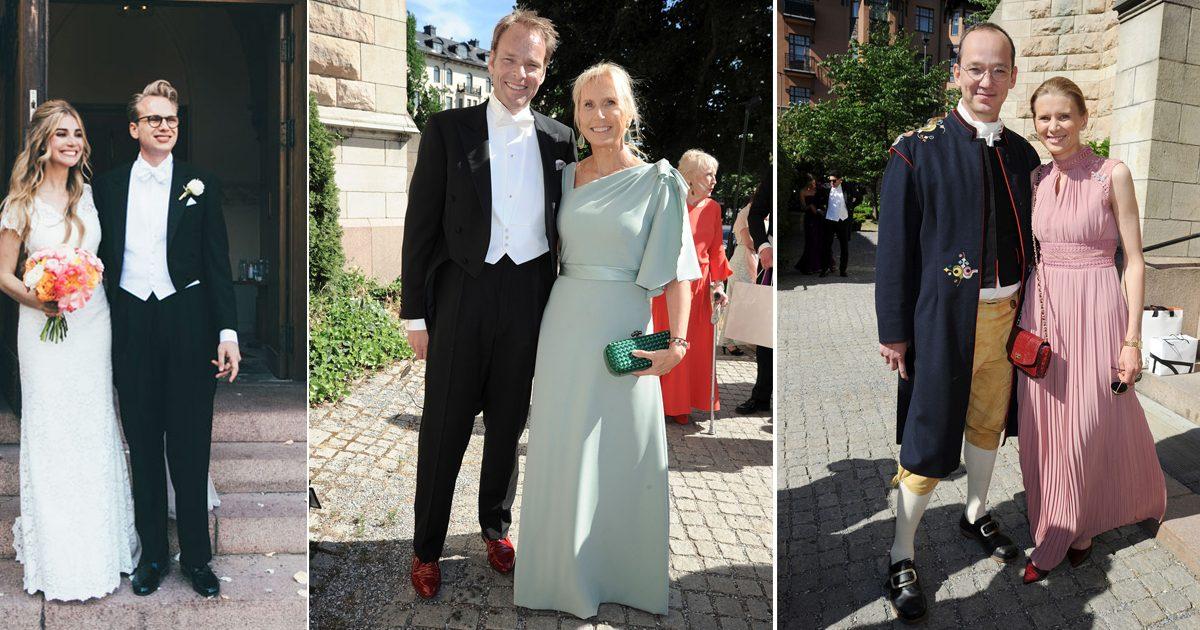 Bildextra! Love Bonniers pampiga sommarbröllop i Oscarskyrkan