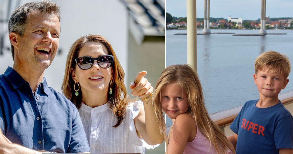 Skepp ohoj! Frederik och Mary tog med barnen ut till havs