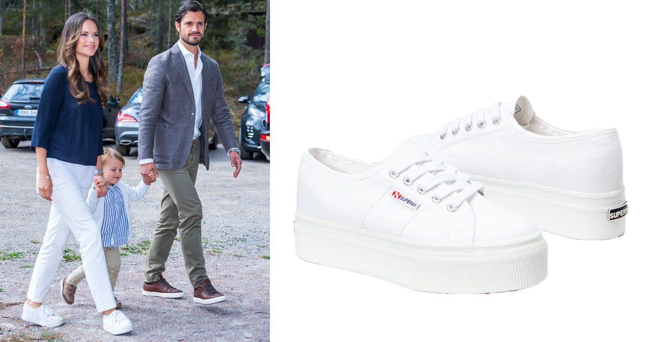 12ca6533d1d Här har Sofia hittat sina vita platå-sneakers! | Kungliga modebloggen