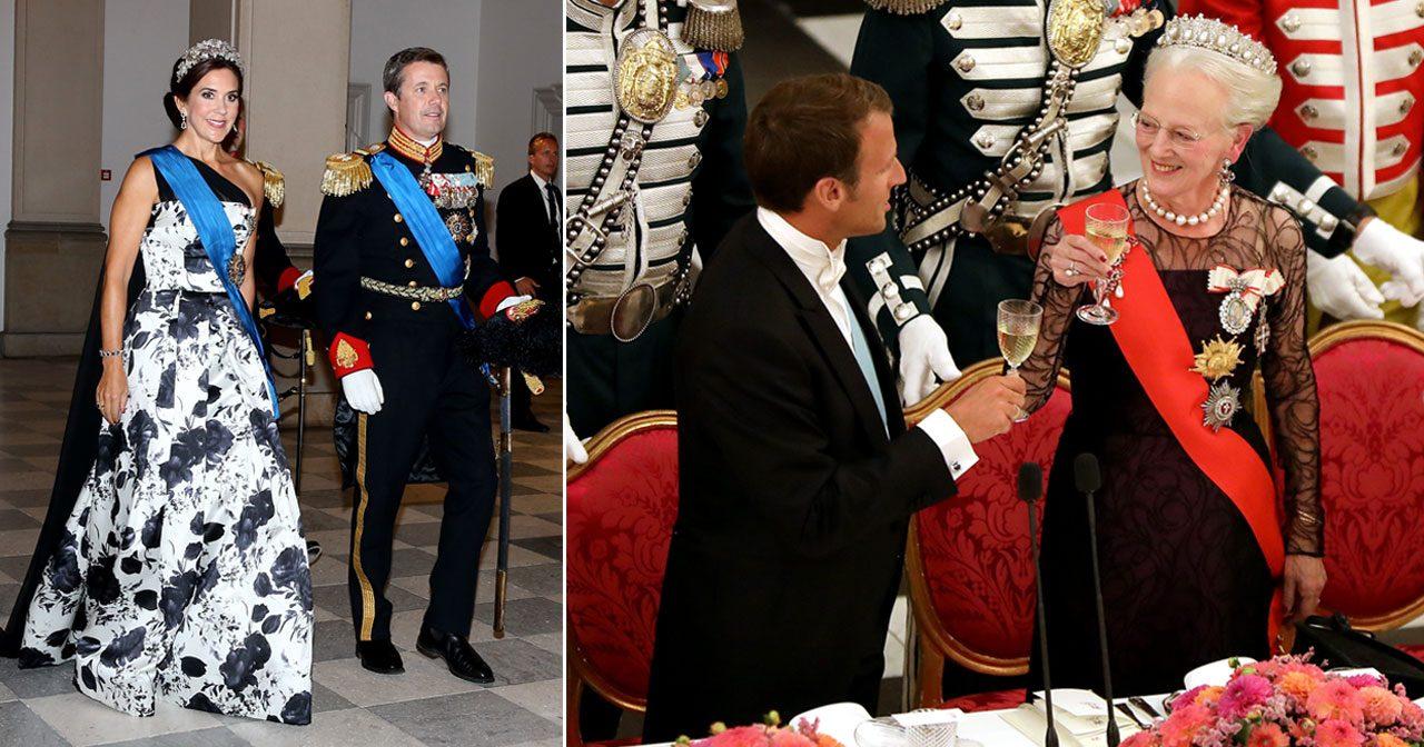 Klänningarna, juvelerna och dukningen! Se bilderna från Margrethes galamiddag
