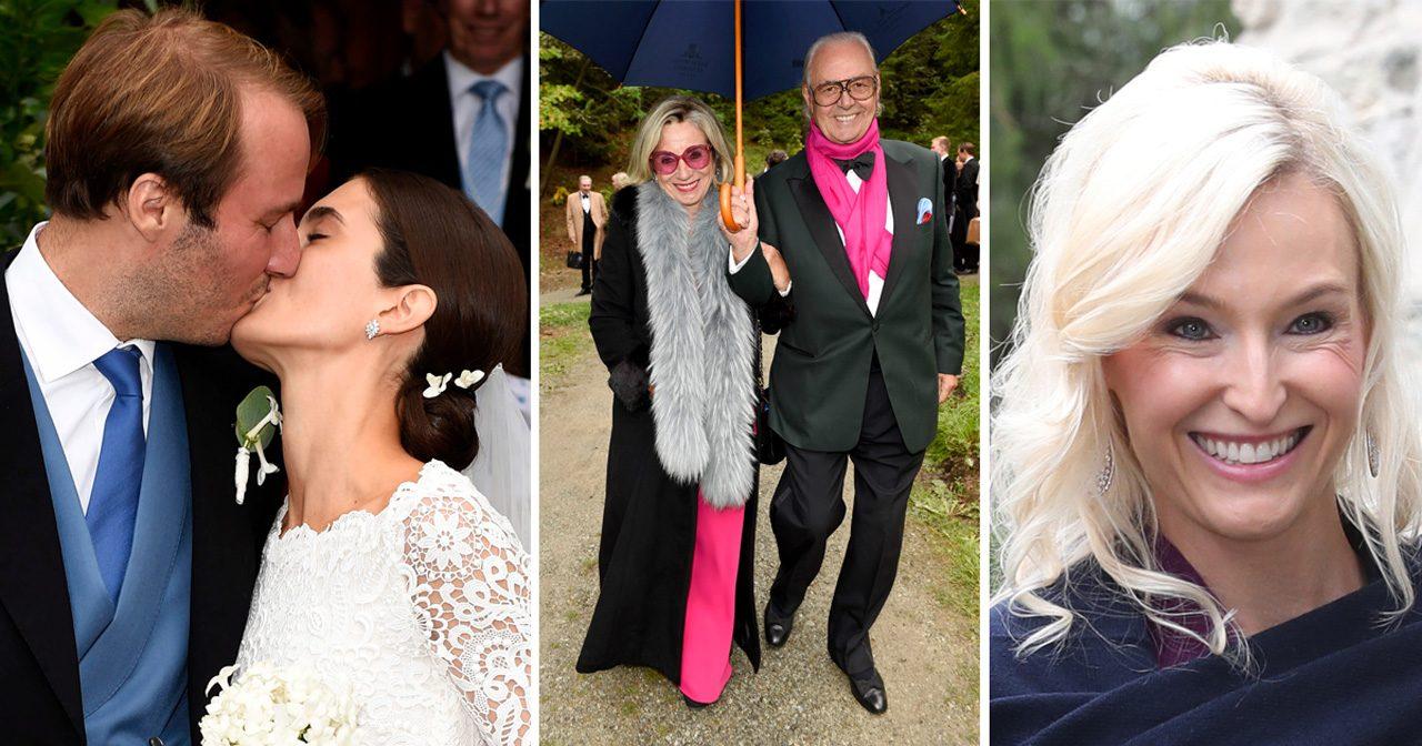 Se alla bilderna! Carl Philip och Sofia bröllopsminglade med tyska aristokratin