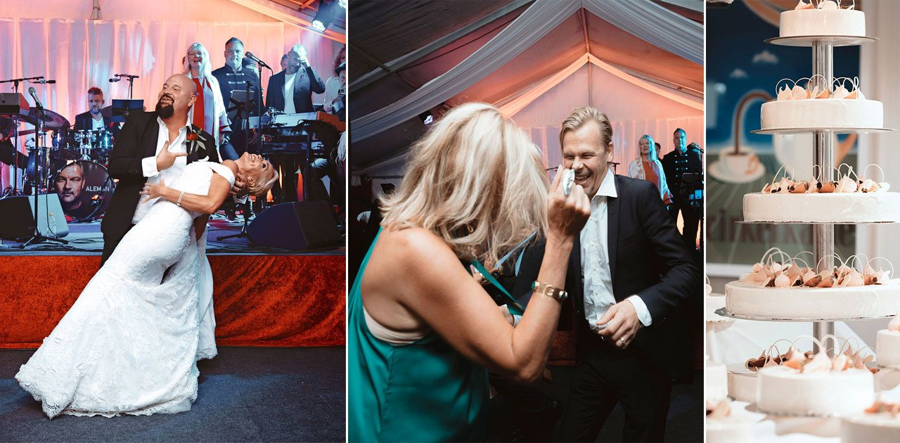 Exklusiva bilder inifrån Anders Bagges bröllopsfest