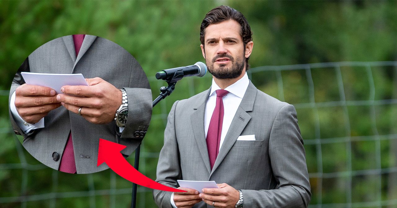 Prins Carl Philips ring höll på att trilla av ringfingret