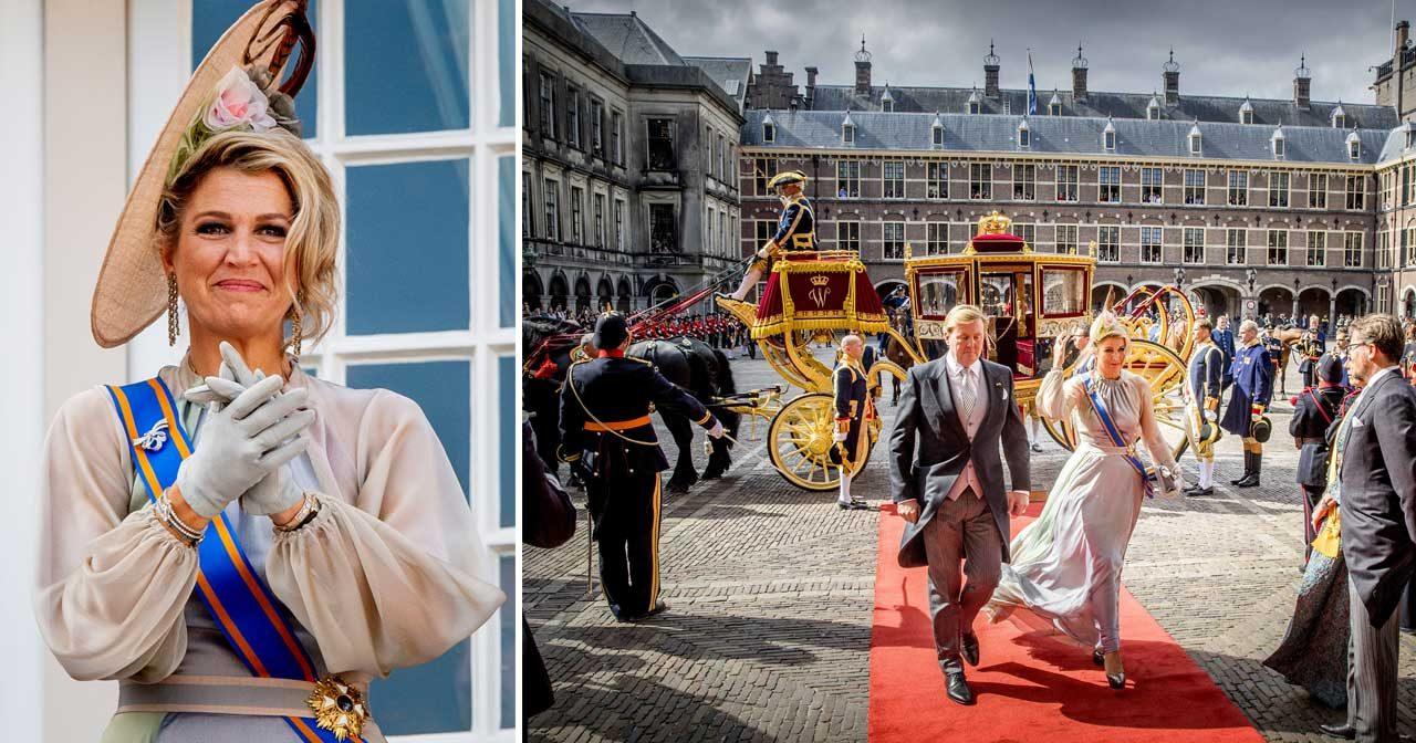 Se maffiga bilderna! Nära sko-kris för drottning Máxima