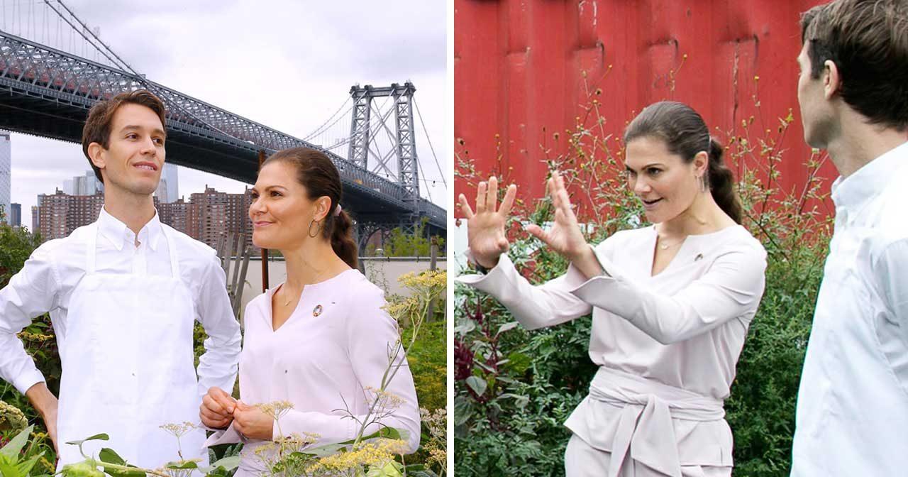 Bildextra! Kronprinsessan Victoria mötte stjärnkock i New York