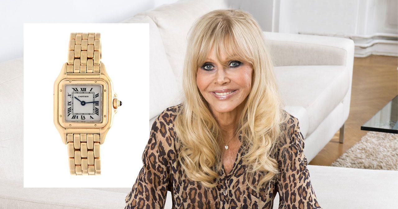 Britt Ekland säljer sin lyxklocka från Cartier