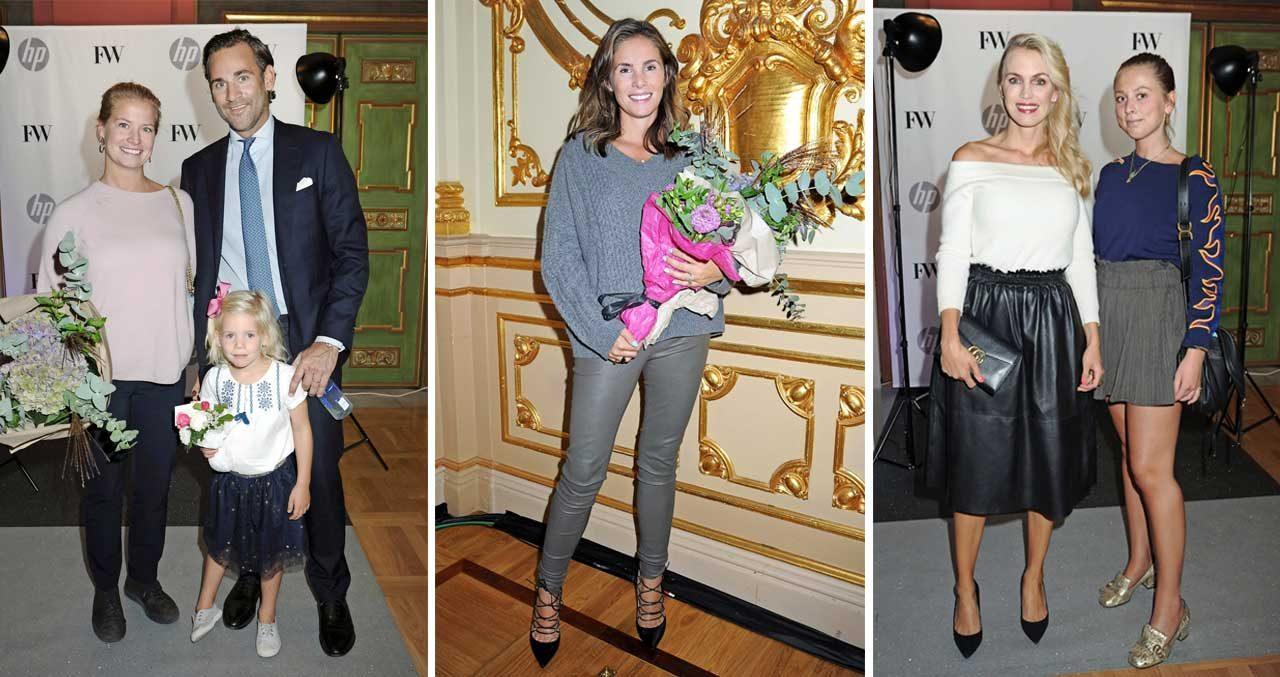 Prinsessbästisar på plats när Stephanie Bergström hade visning
