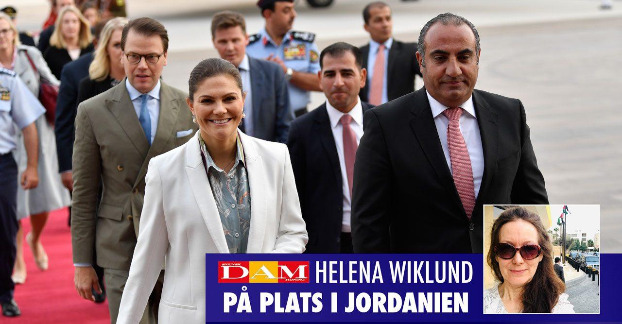Se första bilderna! Victoria och Daniel i Jordanien
