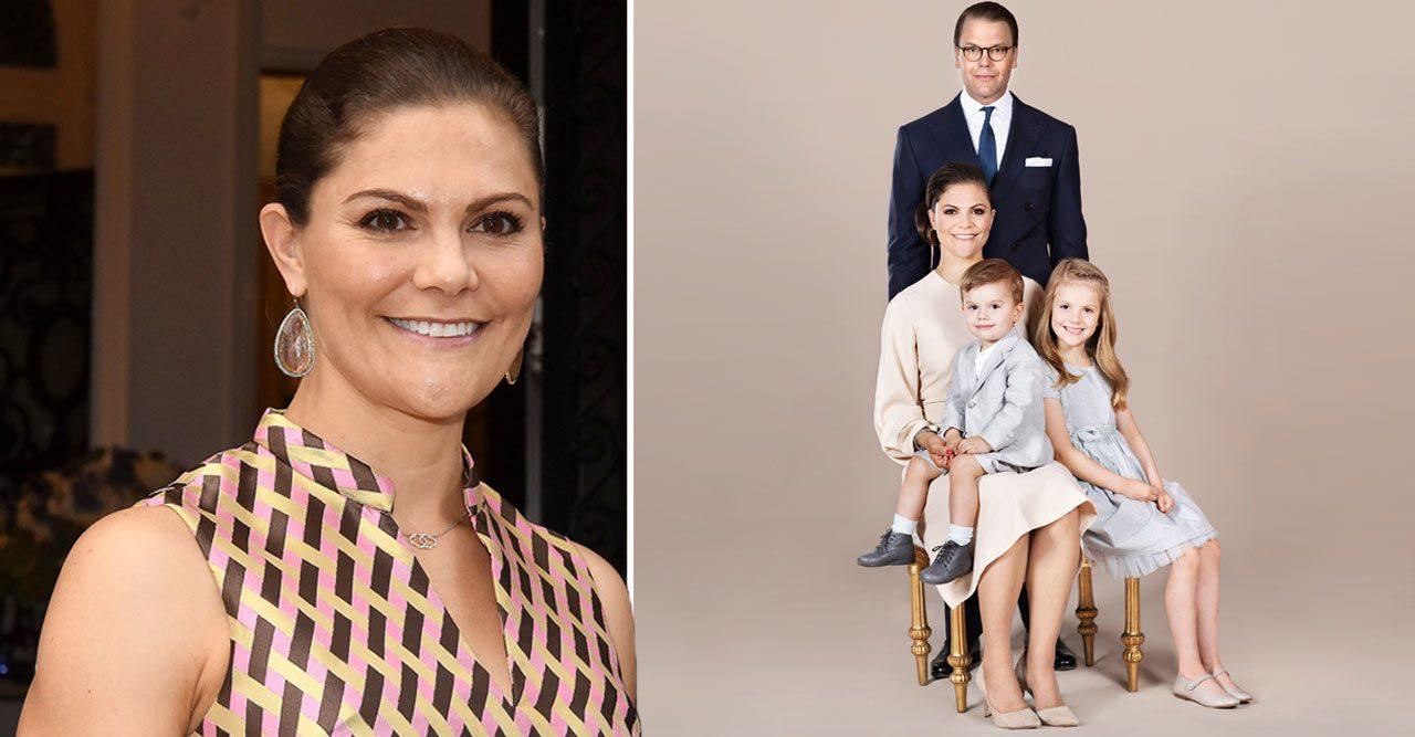 Nytt porträtt av kronprinsessfamiljen – på Arlanda