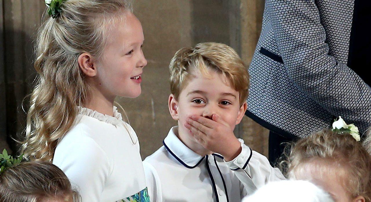 Prins George på bröllop.