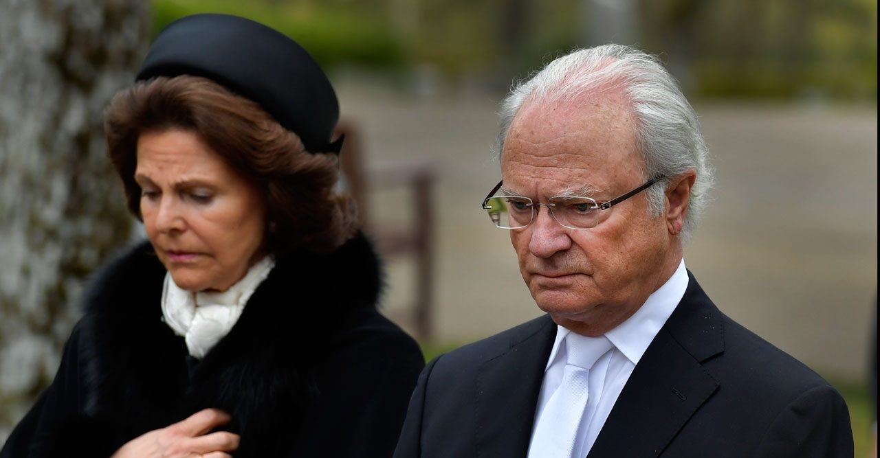 Kungafamiljen i sorg – nära släktingen har gått bort