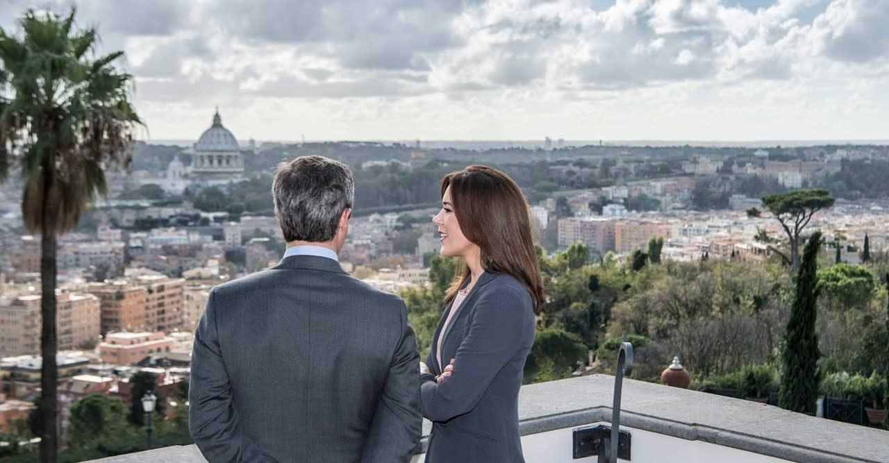 Frederik och Mary i Italien.