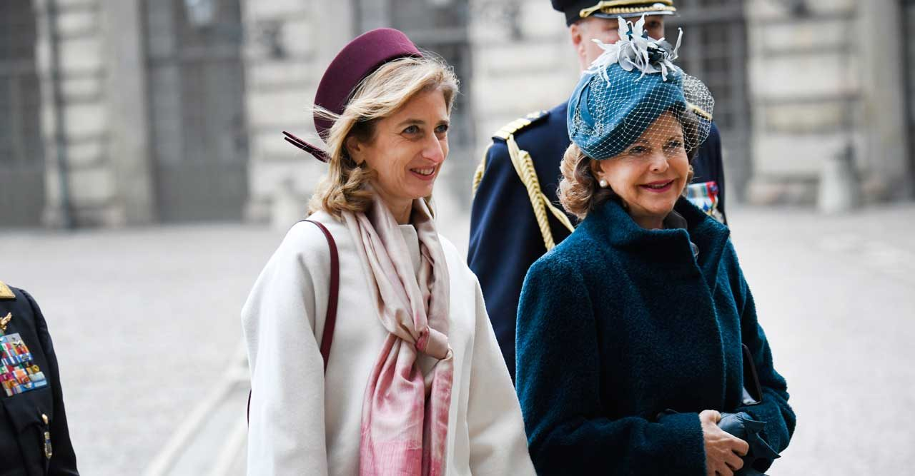 Kungen och drottningen tar emot Italiens president