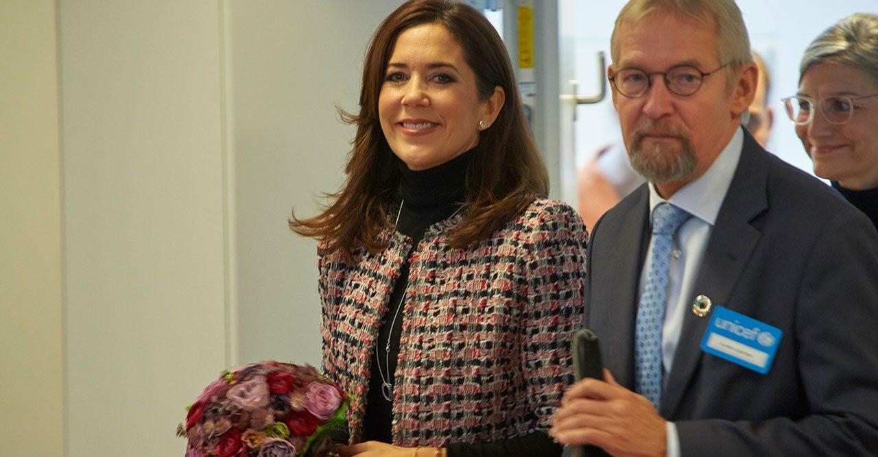 Bildkavalkad på kronprinsessan Mary <br>i folketinget
