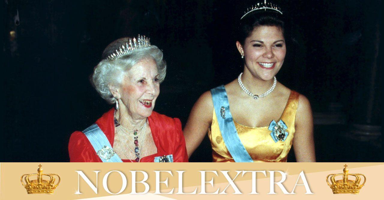 Lilian och Victoria på Nobel.