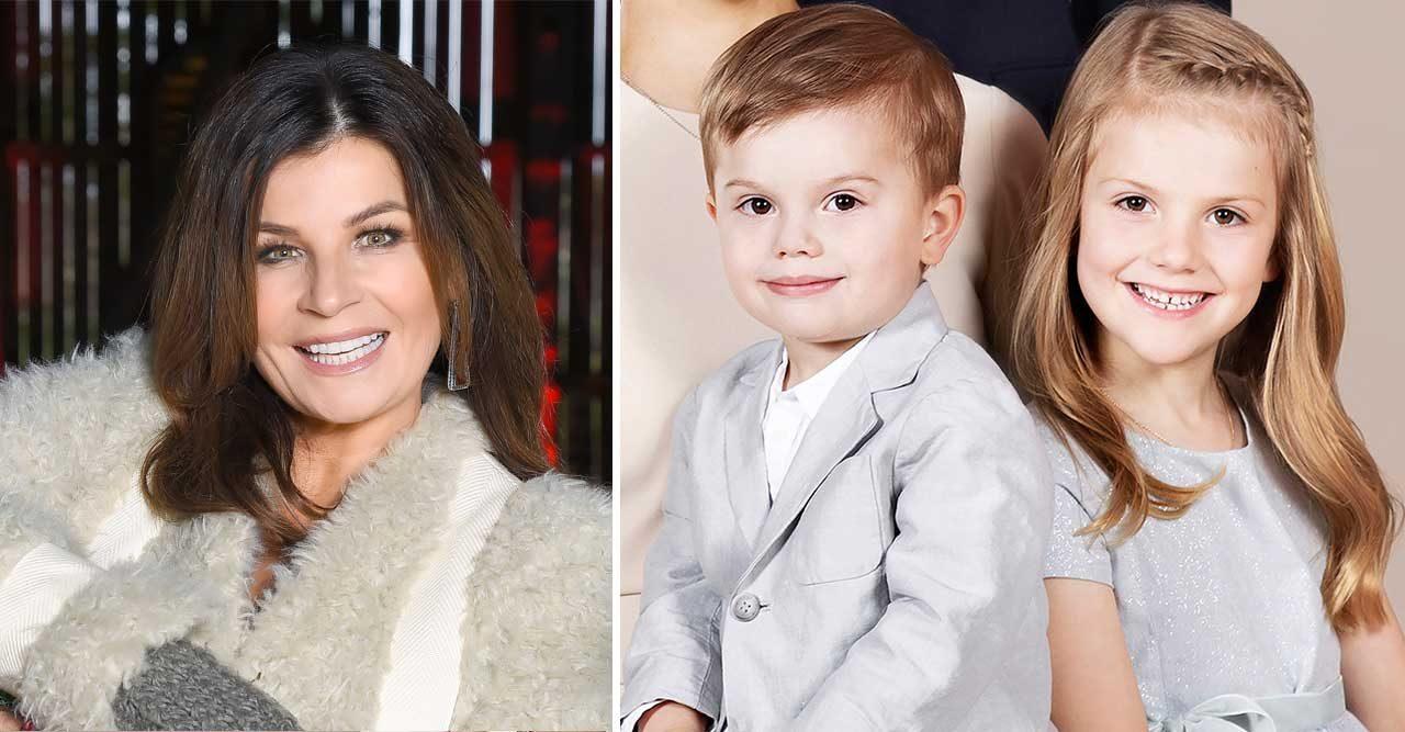 Prinsessan Estelle och prins Oscar på julkonsert med Carola