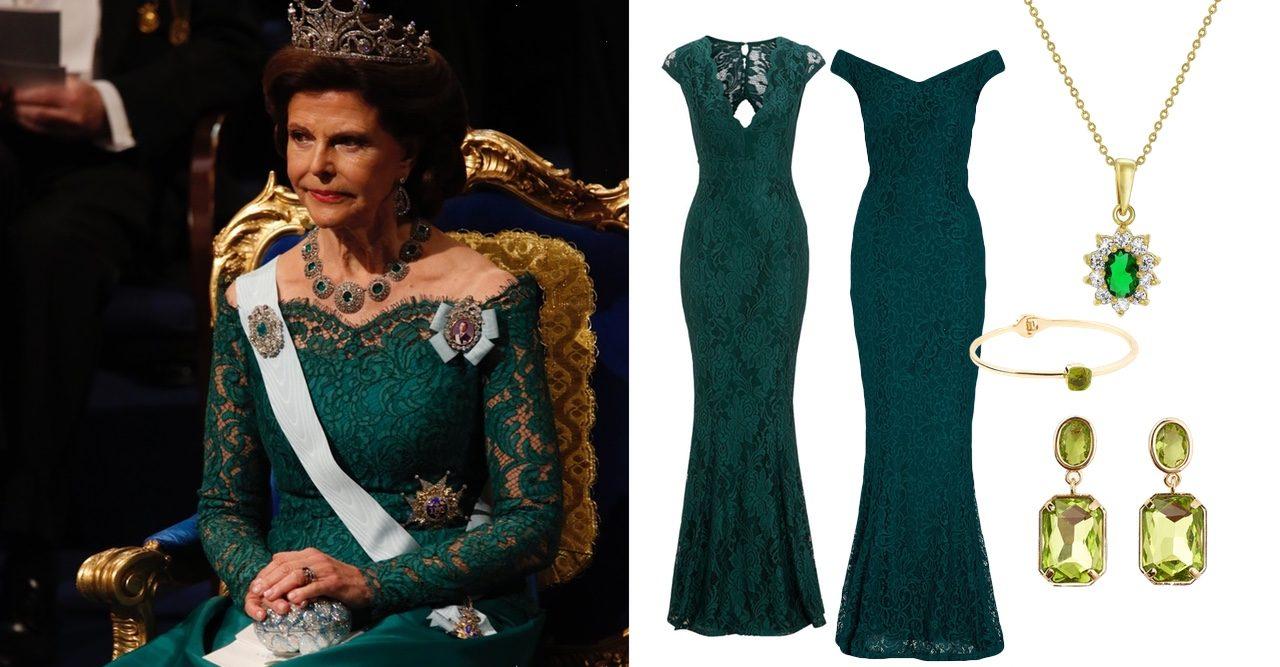 Drottning Silvia klänning Nobel 2018