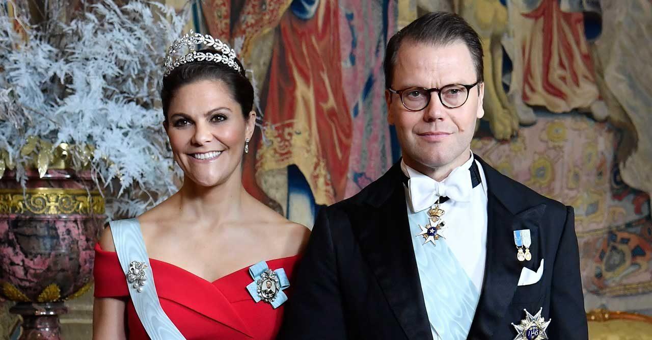 Victoria och Daniel på kungens middag.