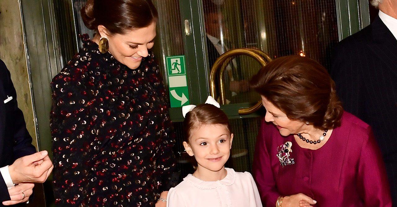 Prinsessan Estelle och drottning Silvia.