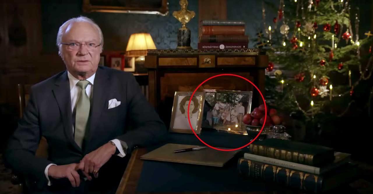 Familjebilden vi aldrig sett avslöjas under kungens jultal