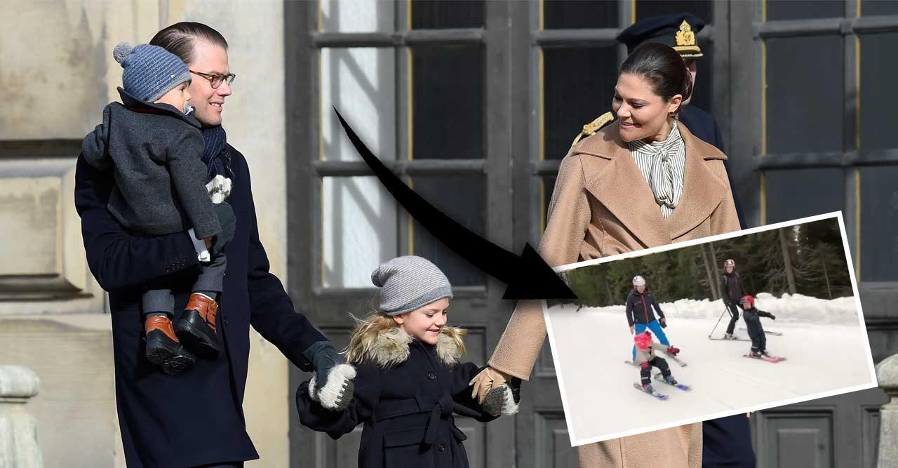Se filmen! Prins Oscar åker skidor – två år ung