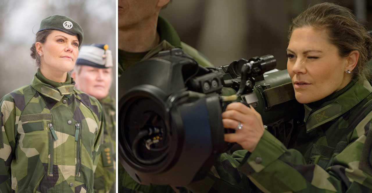 Här testar Victoria Livgardets simulatorvapen – se filmen!