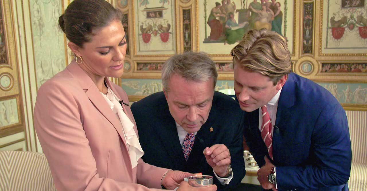 Kronprinsessan Victoria i Antikrundan – se filmklippet
