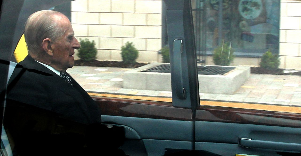 Prins Philip i bil