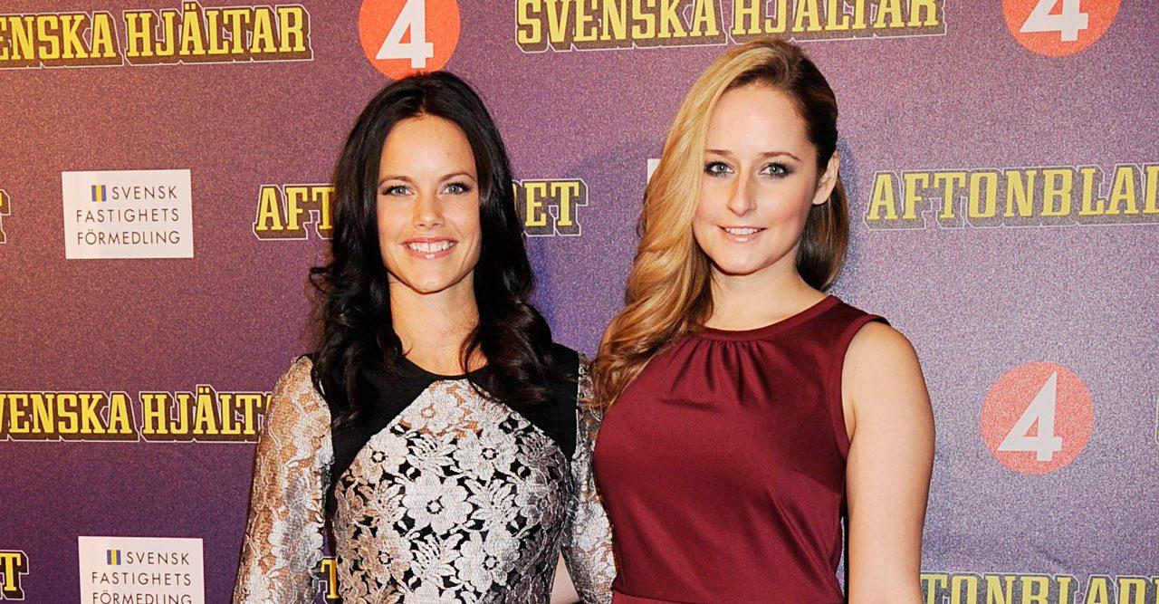 Prinsessan Sofia och systern Lina Hellqvist