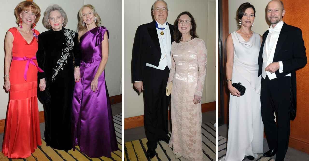 Marianne Bernadotte strålade i klänning från Balmain på diplomatfest