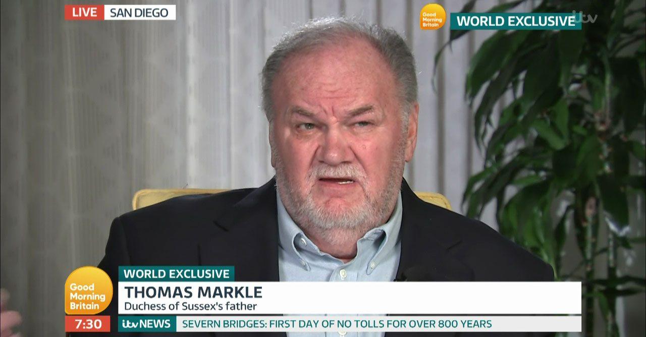 Thomas Markle avslöjar Meghans personliga brev