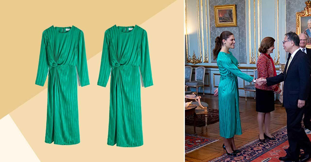 Victoria väljer vårens trendfärg – köp hennes budgetklänning här ... b15902c80dcc3
