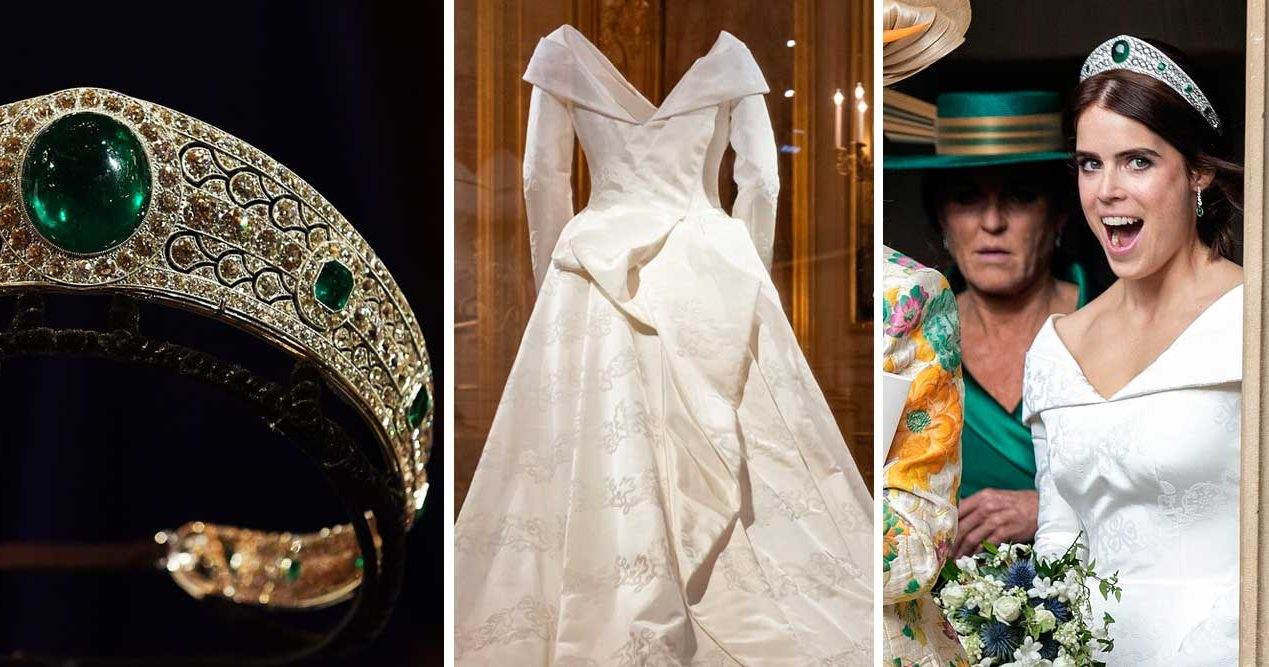 Oväntade kopplingen till svenska prinsessan när Eugenies brudlook visas