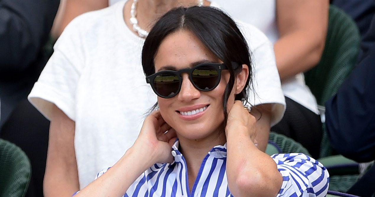 Meghan i solglasögon från Illesteva