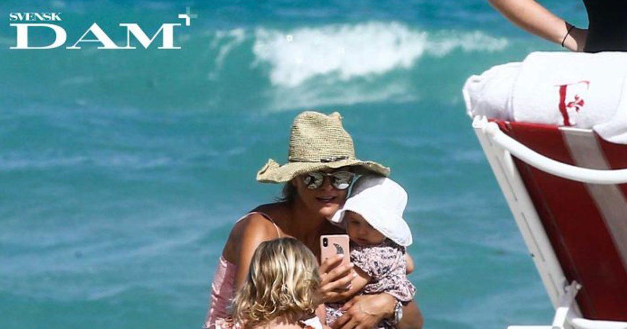 Prinsessan Madeleine på stranden i Florida