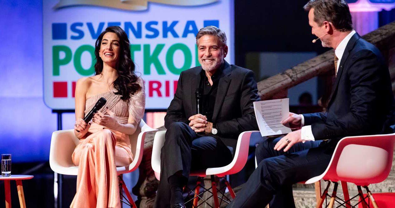Meghans bästisar George och Amal Clooney på blixtbesök – i Stockholm!