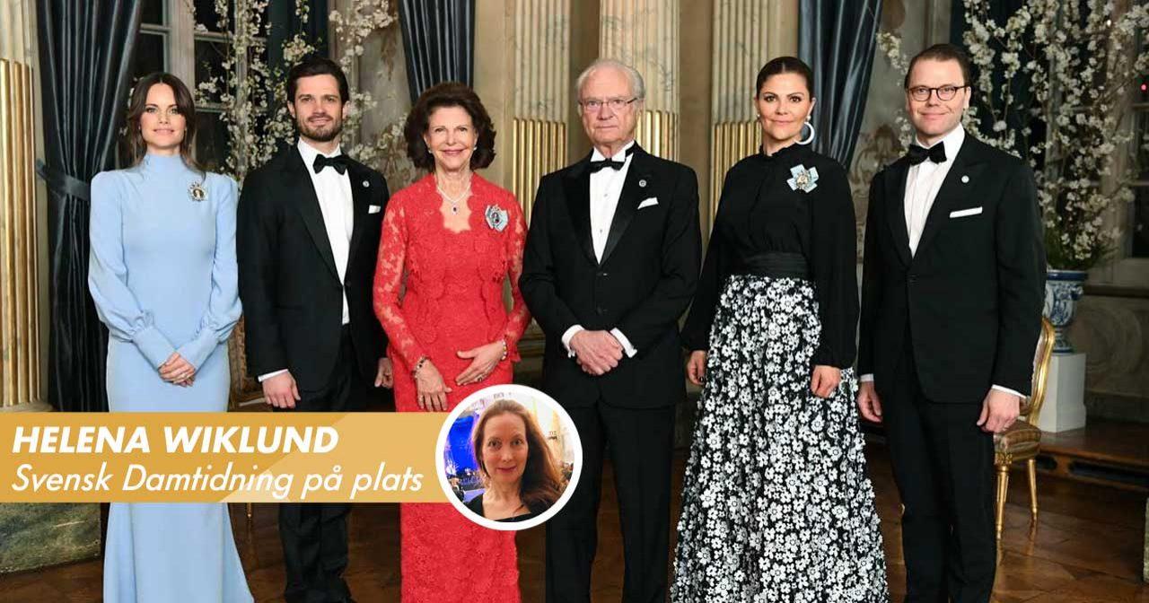 Just nu på slottet: Kungafamiljen glittrar på Riksdagssupén