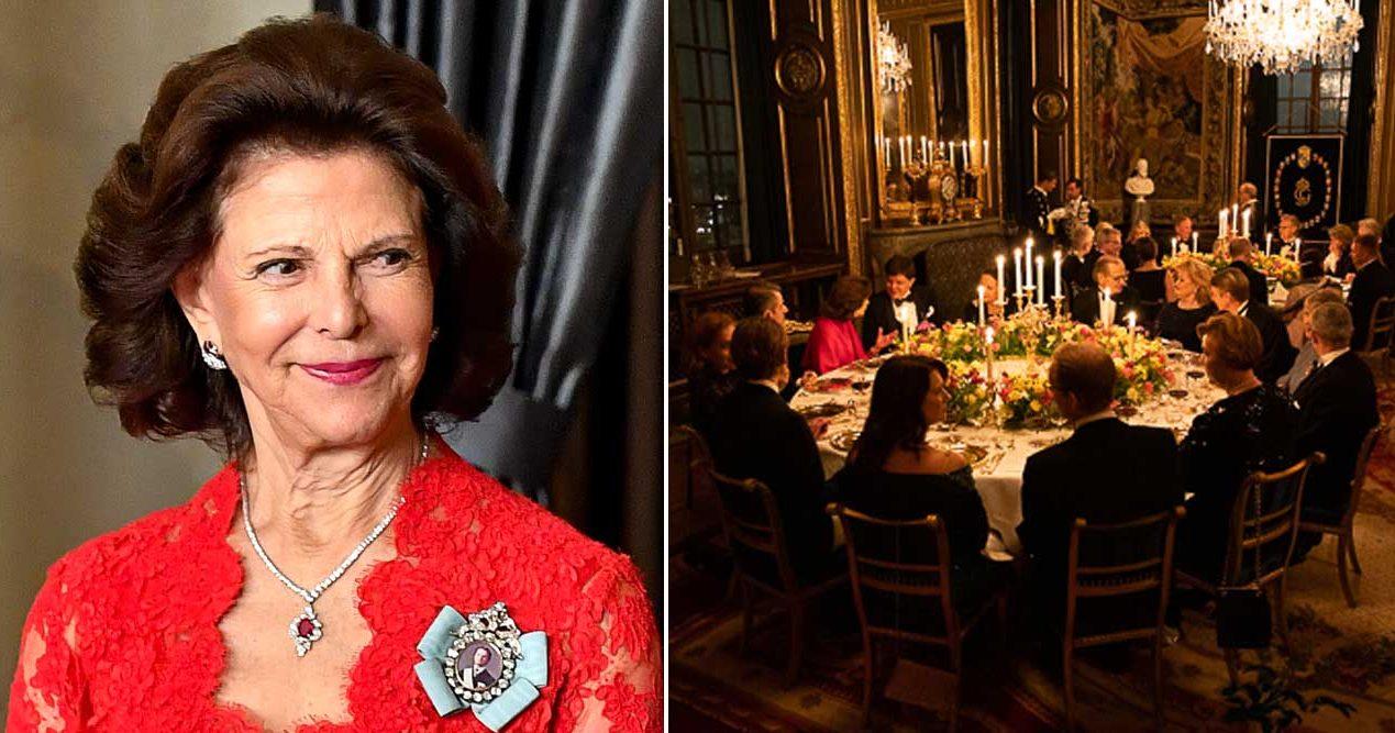 Hela listan! De var bjudna på kungaparets middag – och detta åt de