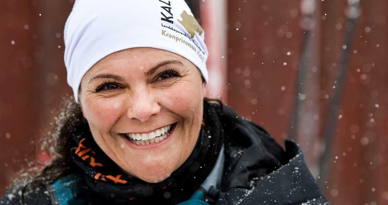 """Victoria vandrade – i värsta snöyran: """"Jag älskar väder!"""""""